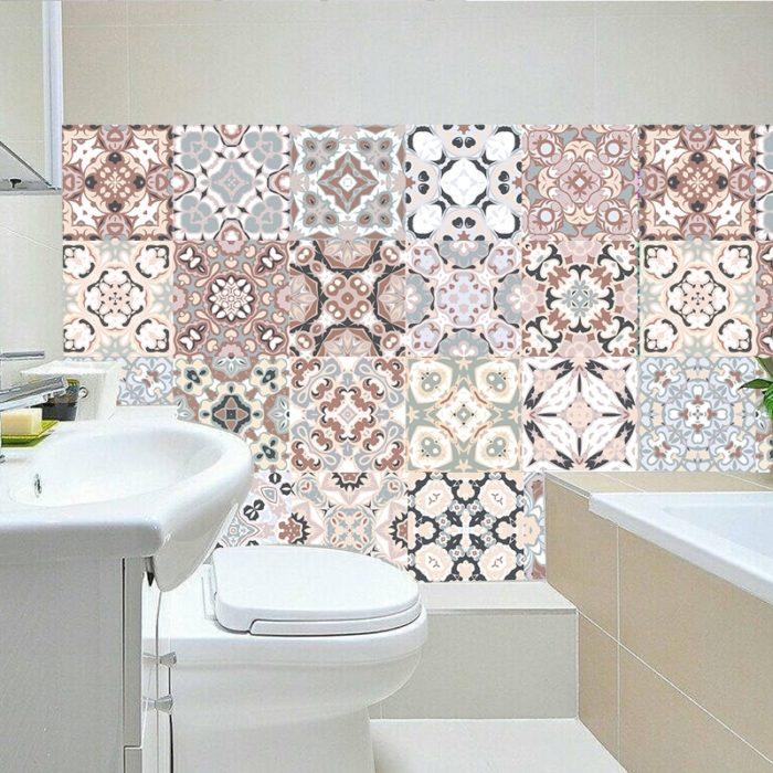 Tile Effect Wallpaper Sticker Tiles
