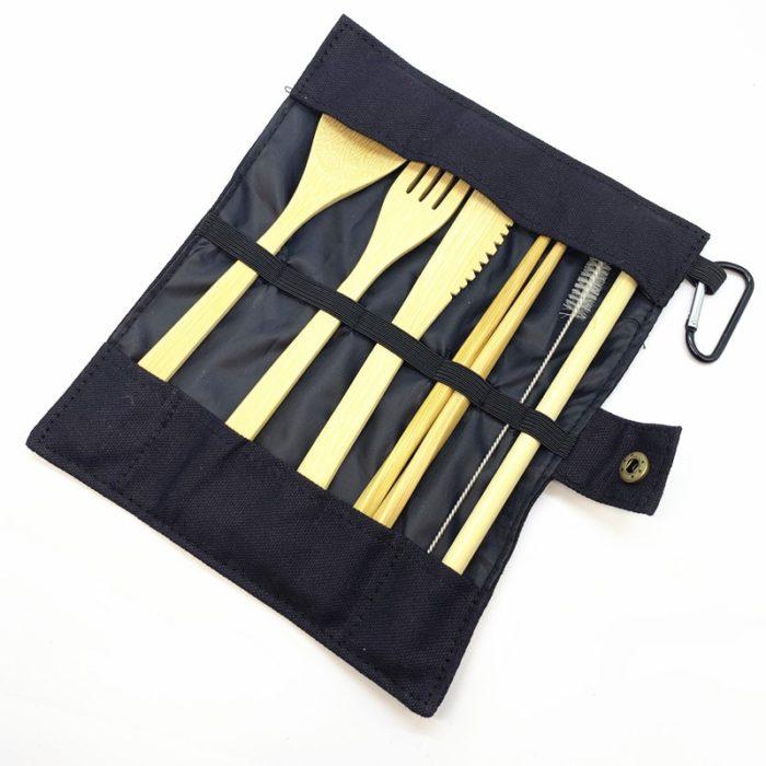 Bamboo Flatware Travel Set