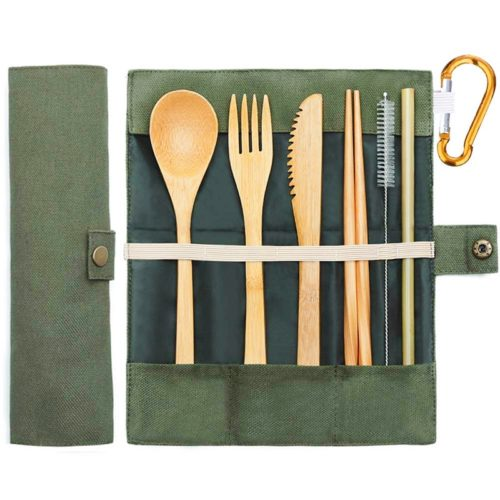 Bamboo Flatware Travel Set