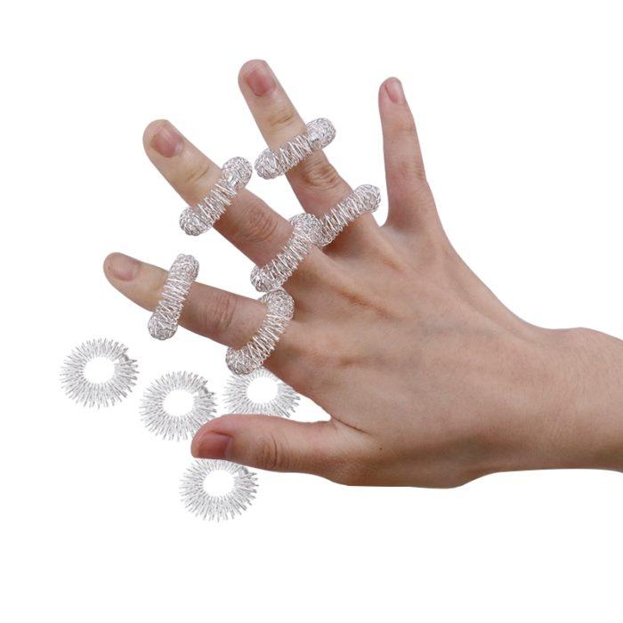 Acupressure Rings Finger Massager (10Pcs.)