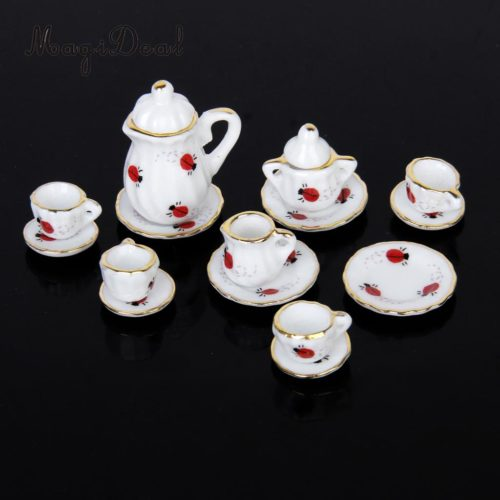 Miniature Tea Set Dollhouse Tea Set