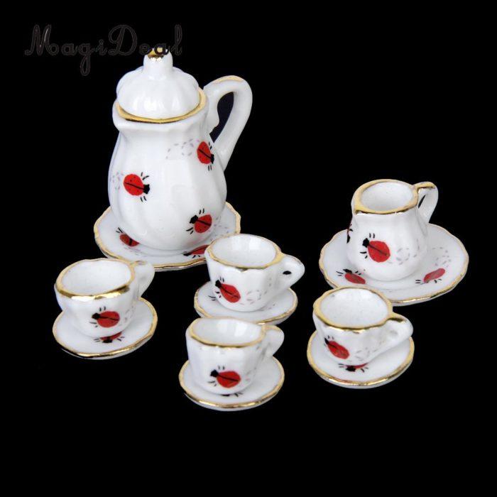 Miniature Tea Set Dollhouse Tea Set