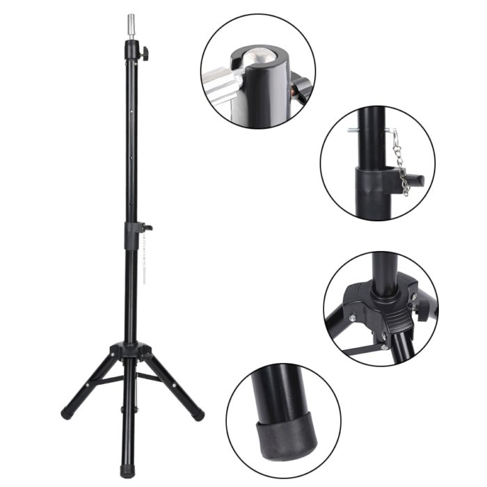 Wig Stand Tripod Adjustable Stand
