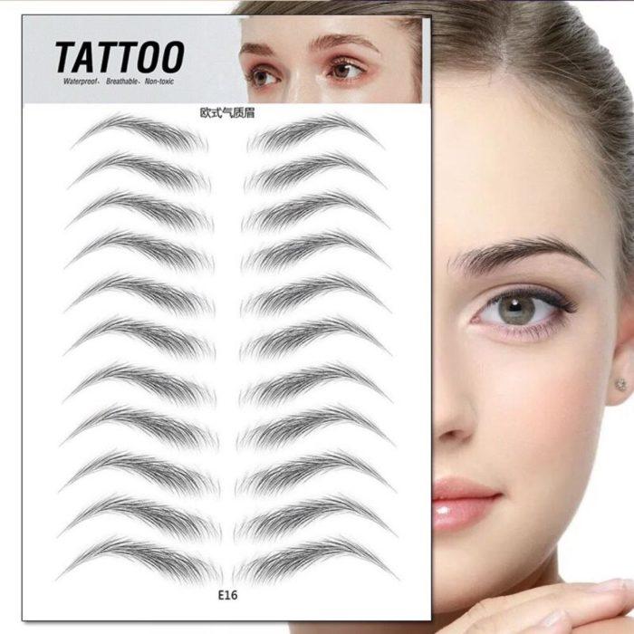 Eyebrow Stickers Hair-Like Tattoo