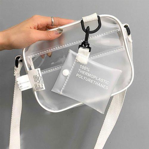 PVC Jelly Clear Crossbody Bag