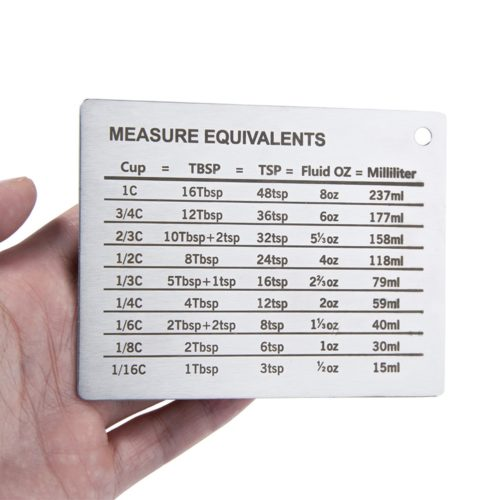 Baking Conversion Chart Magnetic Plate