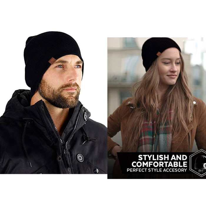 Knit Beanie Hat Winter Bonnet