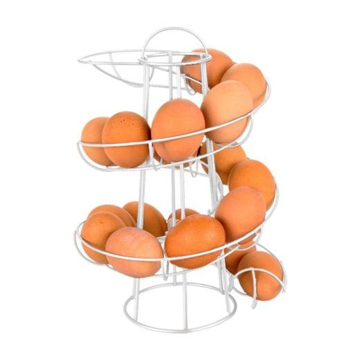 Egg Rack Iron Spiral Dispenser