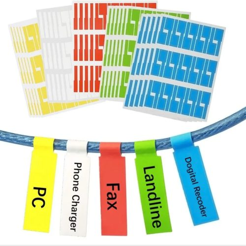 Cable Tags Sticker Labels
