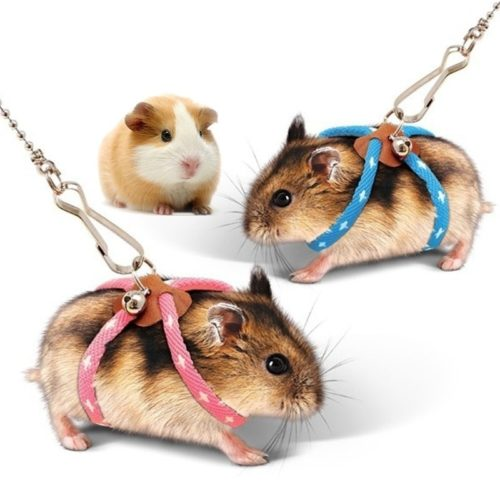 Hamster Leash Adjustable Body Harness