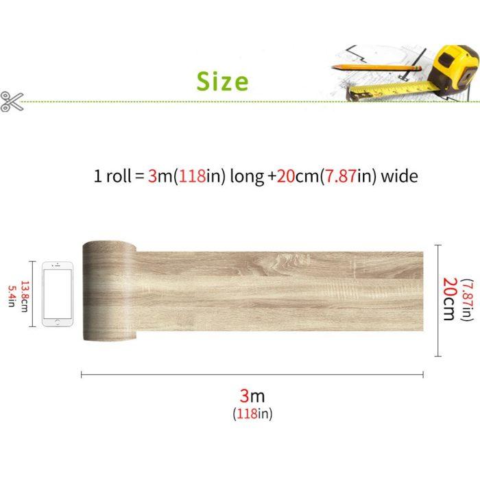 Sticker Floor Tile Wood Design (1 PC)