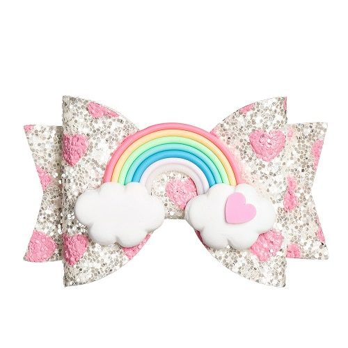 Kid Hair Bow Clip-On Hair Accessory