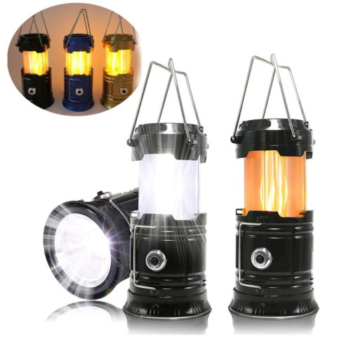 Retractable Solar Camping Lantern