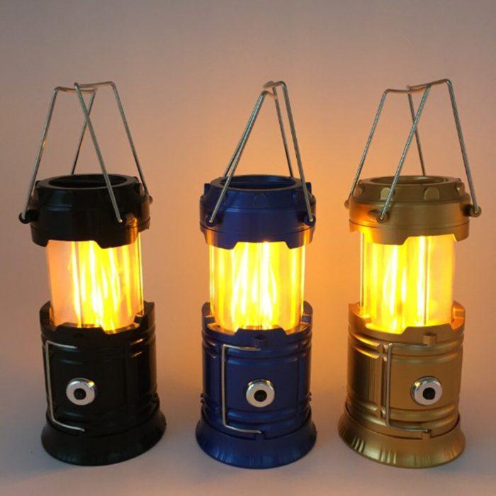 Retractable Solar Camping Lantern