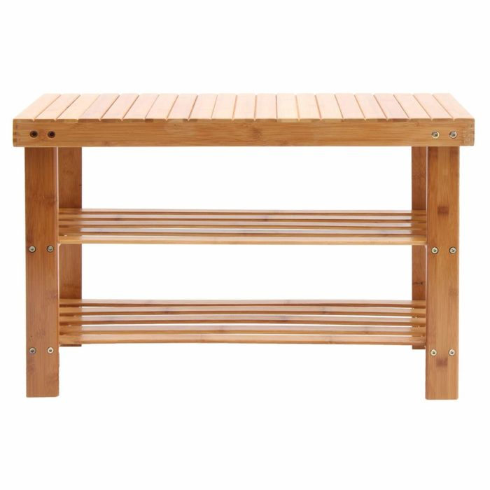 Bamboo Shoe Rack with Seat