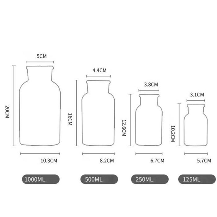 Glass Bottle Vase Minimalist Design