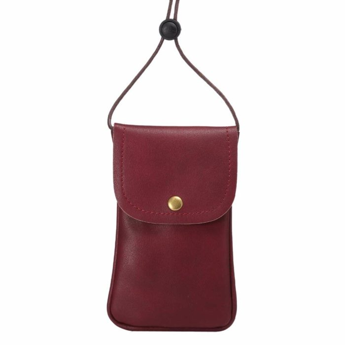 Leather Phone Pouch Shoulder Bag