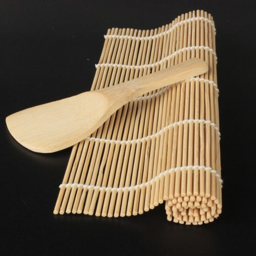 Bamboo Sushi Roller with Wooden Spoon