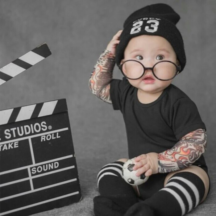 Baby Tattoo Onesie Cotton Bodysuit