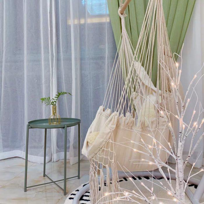 Boho Hanging Chair Rope Hammock