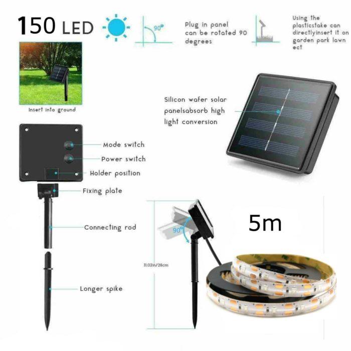 Outdoor Solar Light Strip (5meters)