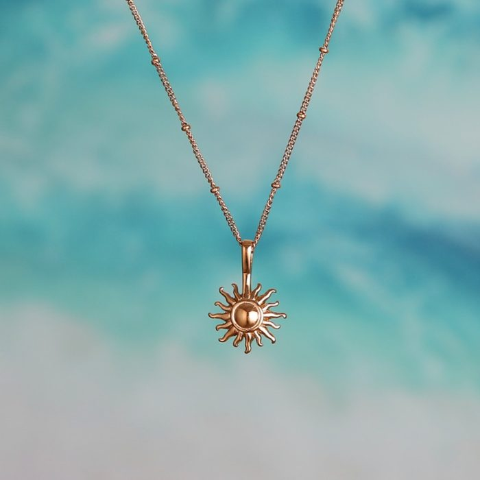 Sun Necklace Stainless Steel Cute Jewelry