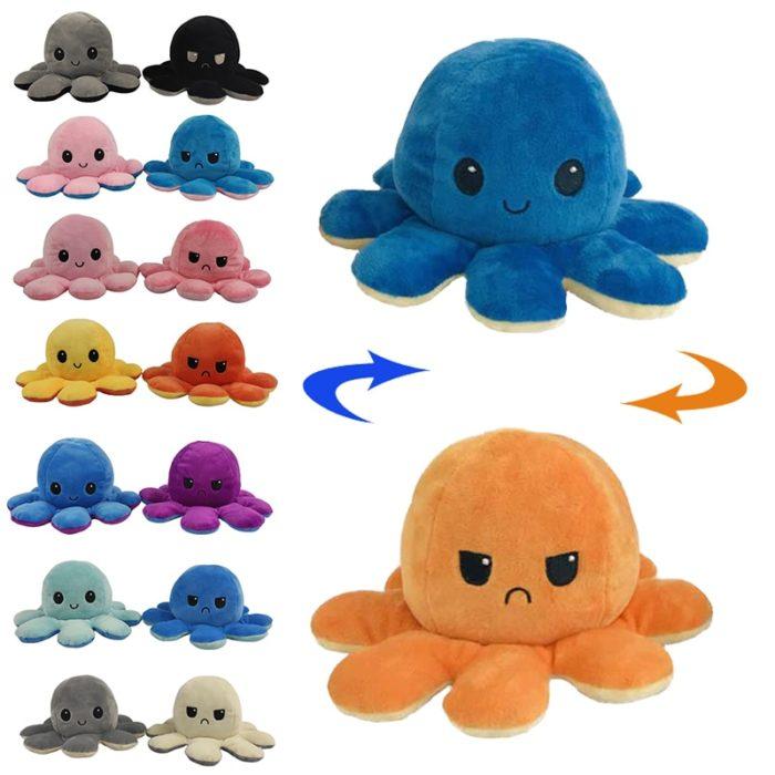 Reversible Plush Octopus Stuffed Toy