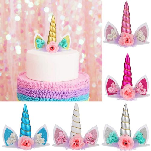 Unicorn Cake Topper Sparkly Decor
