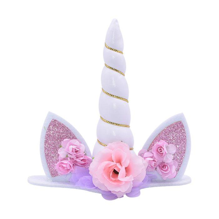 Unicorn Cake Topper Sparkly Decor