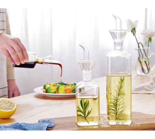 Oil Drizzler Leakproof Glass Pourer