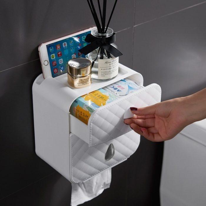Toilet Paper Box Wall Mounted Storage