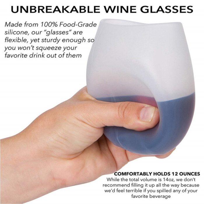 Silicone Wine Glass Travel Drinkware