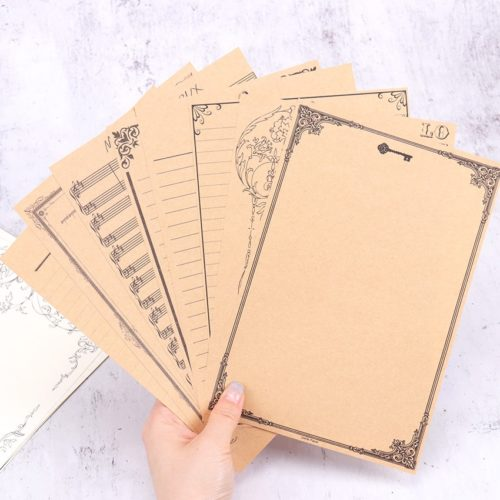 Letter Stationery 8-Piece Vintage Papers