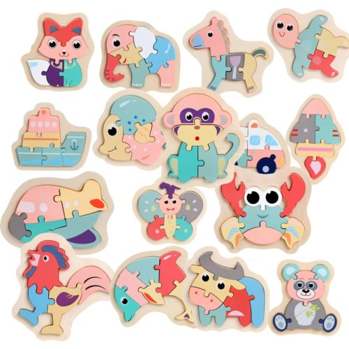 Children's Jigsaw Puzzle Animals Design