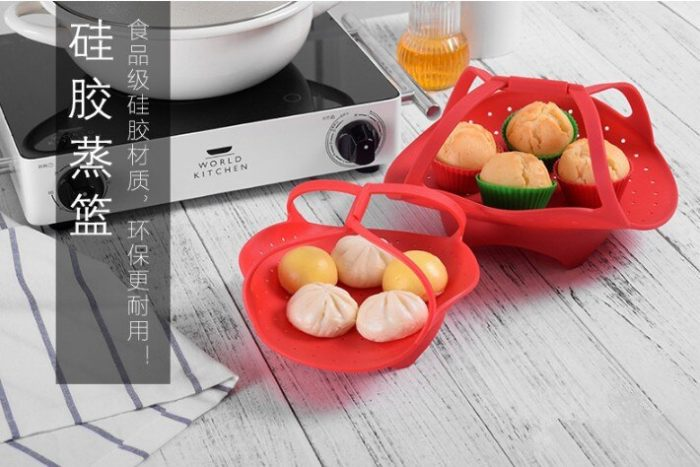 Silicone Steamer Basket Cooking Tool