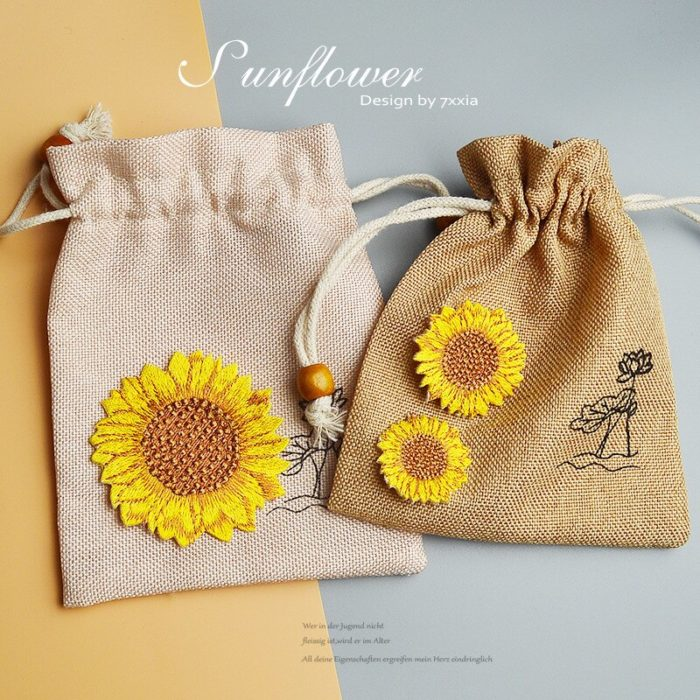Sunflower Patch Iron On Clothes Accessory