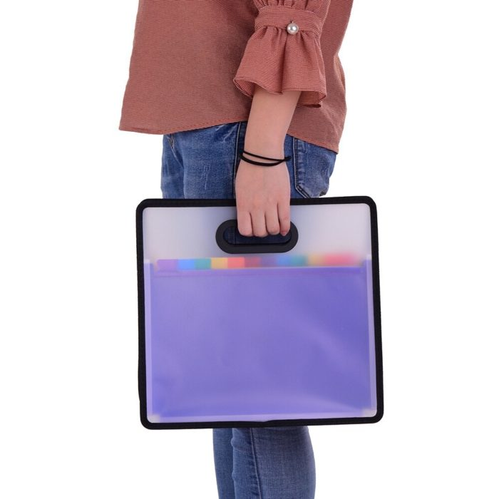 Accordion File Folder 12-Pocket Organizer