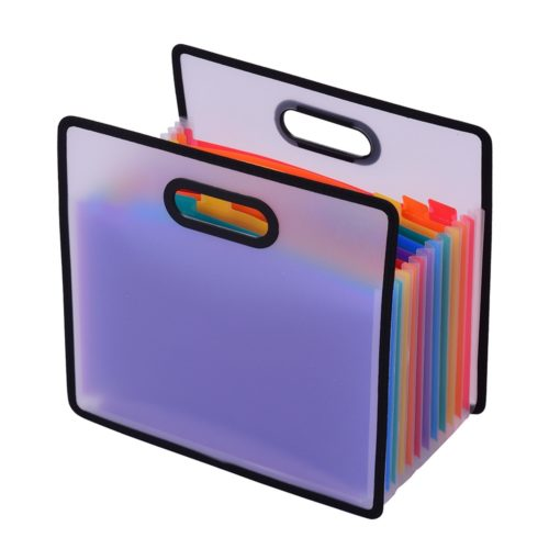 Accordion File Folder 12-Pocket Organizer