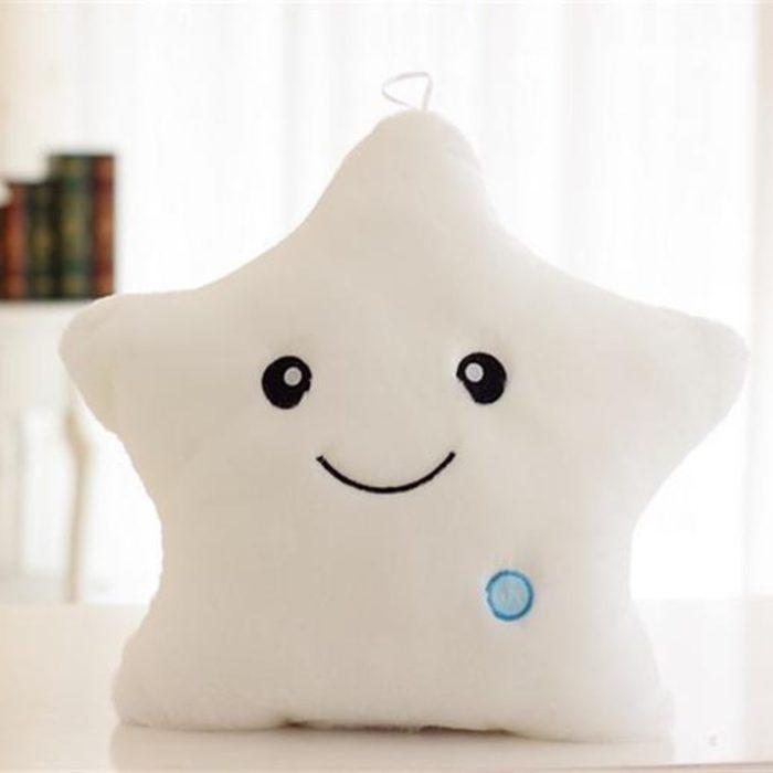 Star Pillow Cute Light Up Plush Pillow