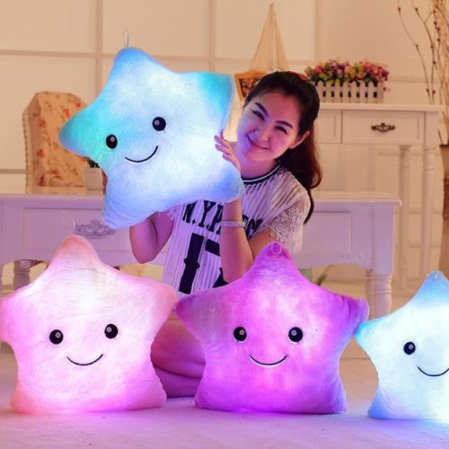 Star Pillow Cute Light Up Plush Pillow