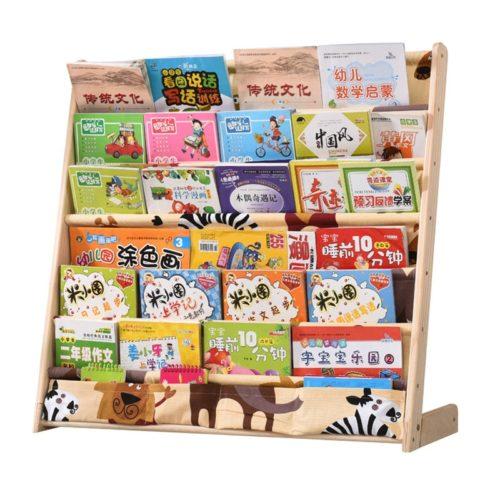 Kid's Bookcase Pocket Bookshelf