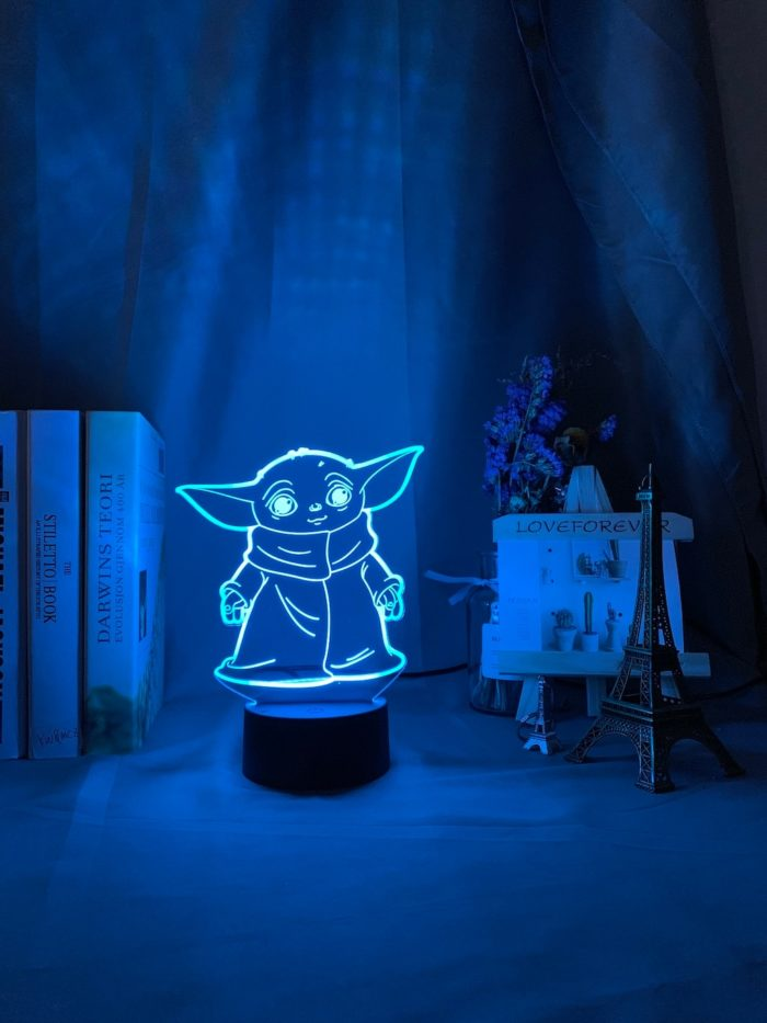 Star Wars Night Light 3D Yoda Lamp