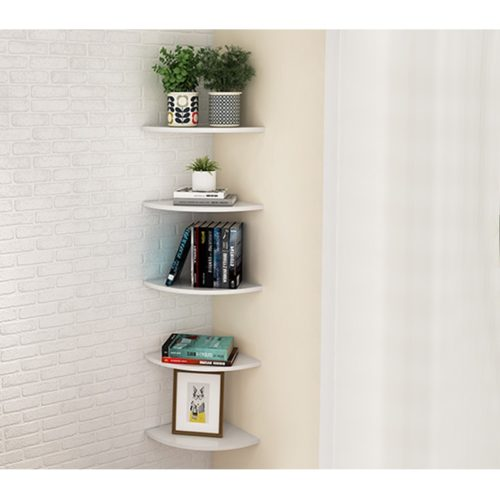 Floating Corner Shelves Storage Rack