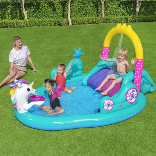 Inflatable Kid's Mini Pool with Slide