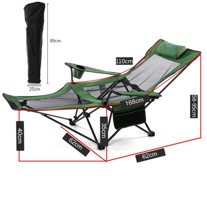 Foldable Reclining Camp Chair