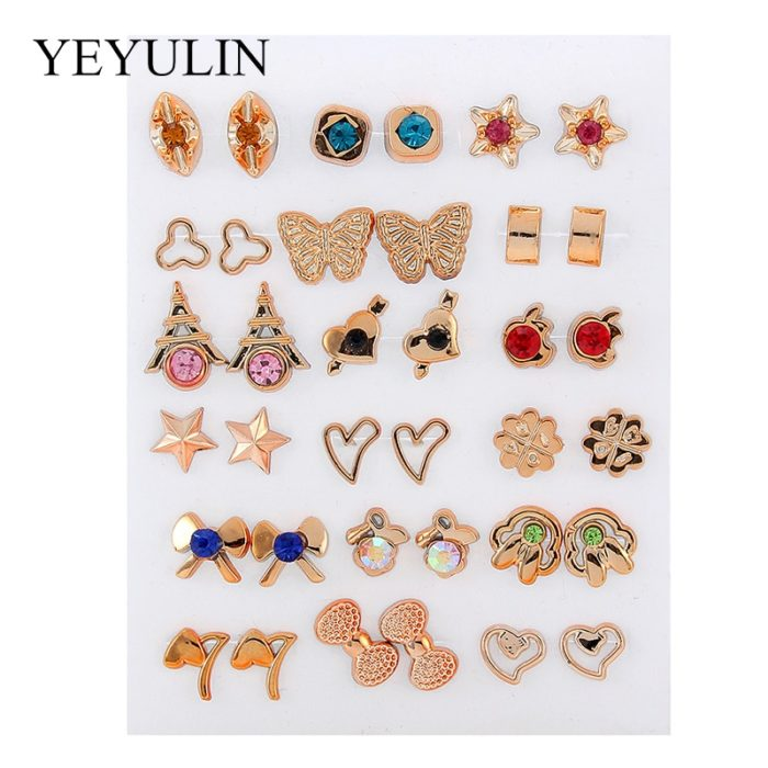 Fashionable Stud Earrings Set