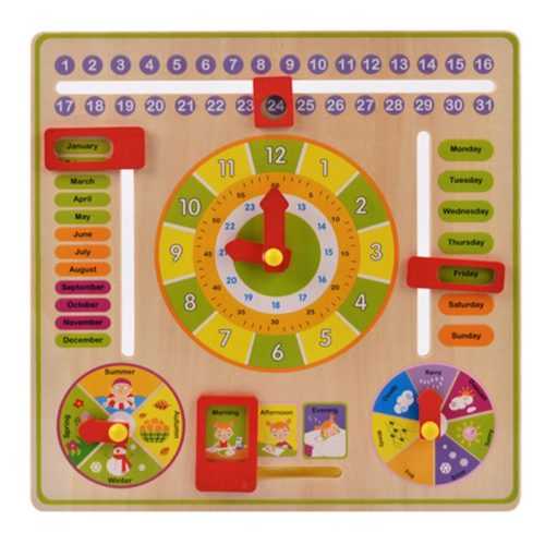 Kid's Learning Clock Wooden Toy