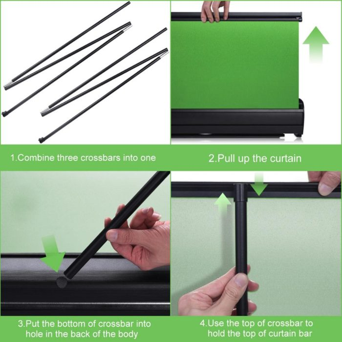 Collapsible Green Screen Pull-up Style