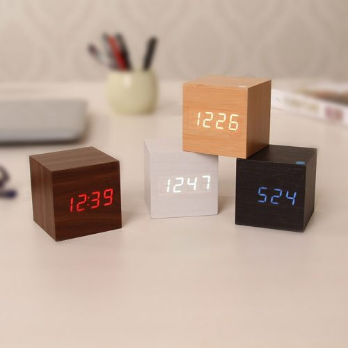 Digital Wood Clock LED Alarm Clock