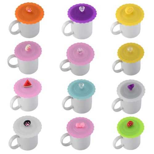 Mug Cover Cute Silicone Cup Lid